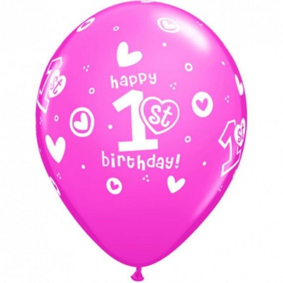 """Μπαλόνια 11"""" 1st Birthday..."""