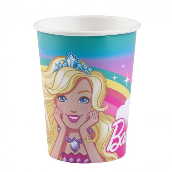 Ποτήρια χαρτ. 250ml Barbie...