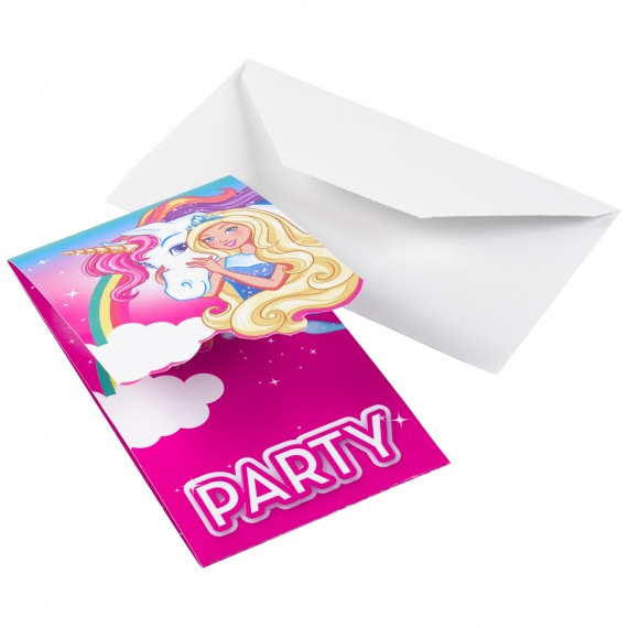Προσκλήσεις Barbie...