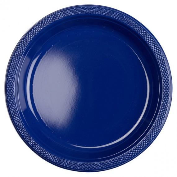 Πιάτα 22,8εκ. πλαστικά Μπλε...