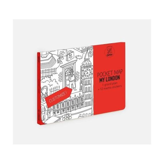 "OMY Χάρτης τσέπης ""Λονδίνο"""