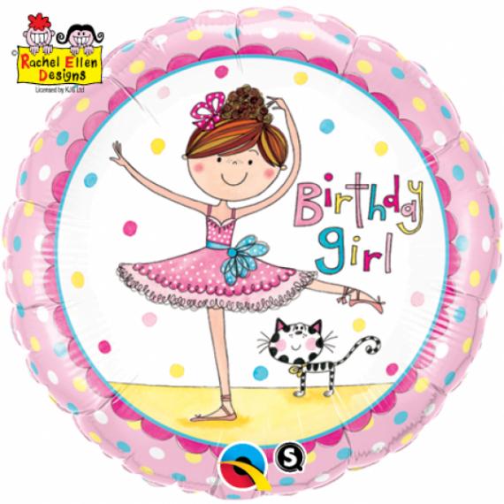 """Foil 18"""" Birthday Girl..."""