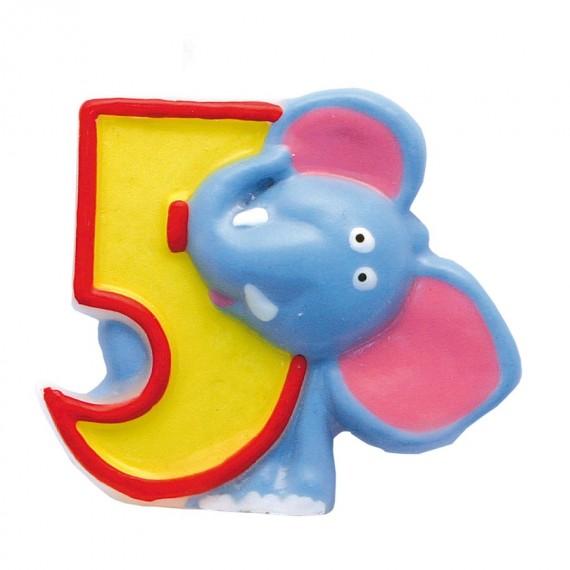 """Κερί Safari """"5"""" / 5 εκ ύψος"""