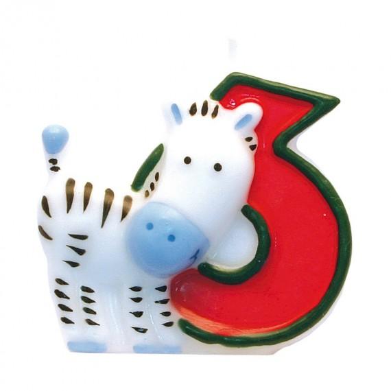 """Κερί Safari """"6"""" / 5 εκ ύψος"""