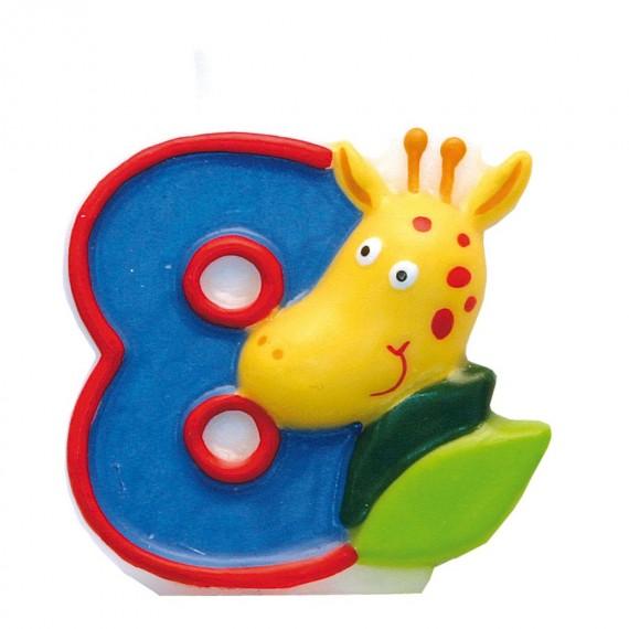 """Κερί Safari """"8"""" / 5 εκ ύψος"""
