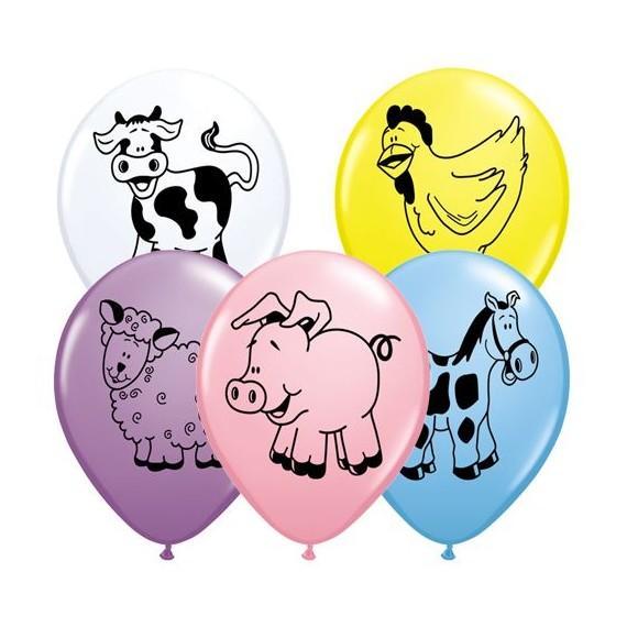 """Μπαλόνια Λάτεξ 11"""" Ζωάκια..."""