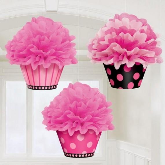 Fluffy Cupcake 3 τεμ