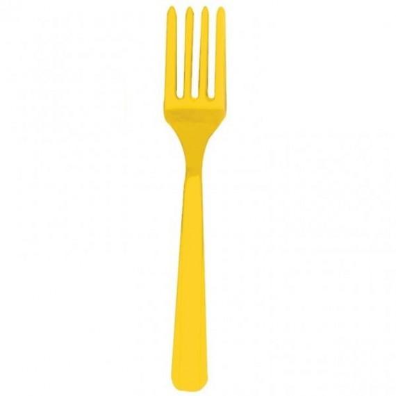 Πιρούνια πλαστικά Κίτρινα...