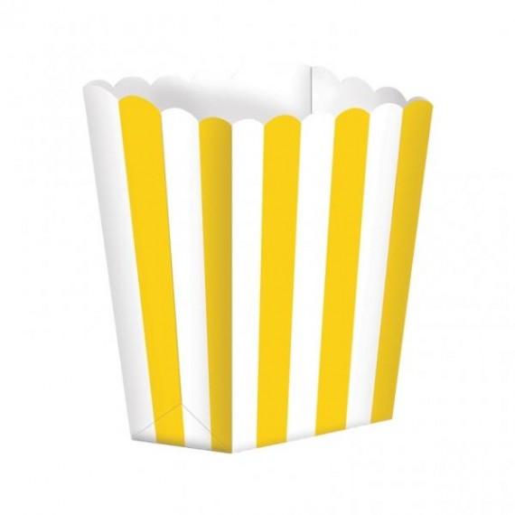 Κουτί Pop Corn Ριγέ Κίτρινο...