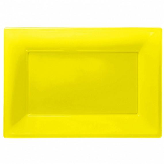 Πιατέλα πλαστική Κίτρινο...