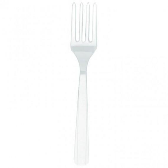 Πιρούνια πλαστικά Λευκά 10τεμ