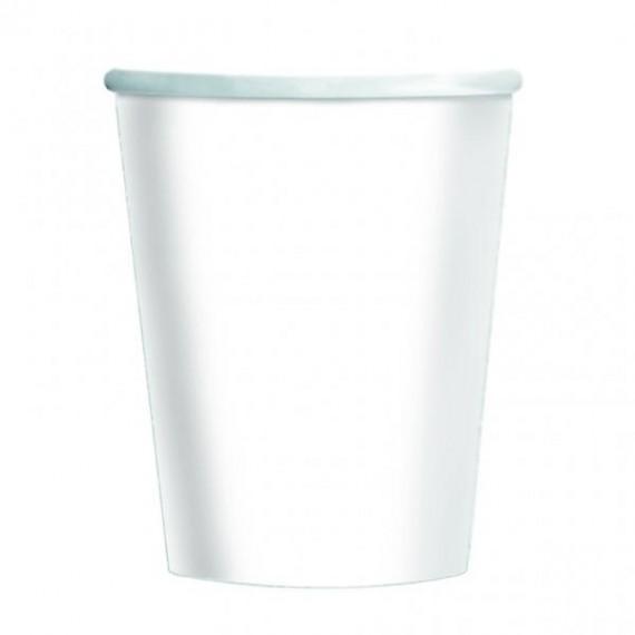 Ποτήρια Χάρτινα 266ml Λευκό...