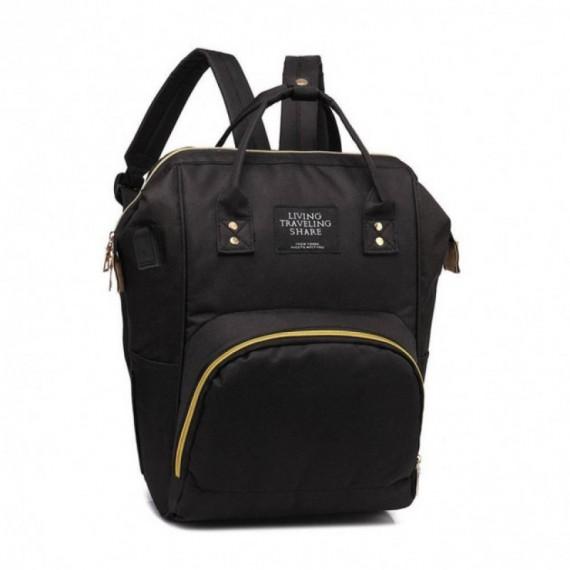 Τσάντα μωρού πλάτης μαύρη