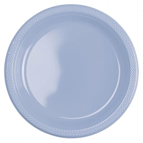 Πιάτα 22.8 εκ. πλαστικά σιέλ