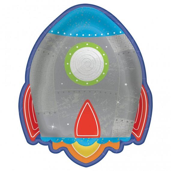 Πιάτα Χάρτινα σχήμα Rocket...