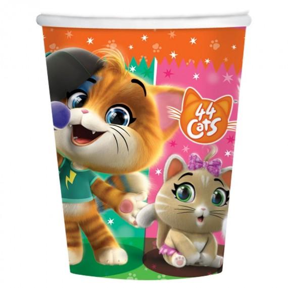 Ποτήρια χαρτ. 250ml 44 Cats...