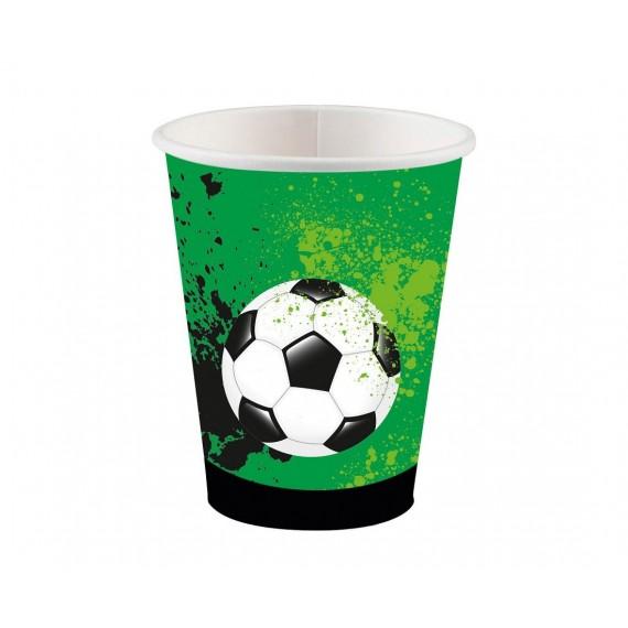 Ποτήρια χαρτ. 250ml Goal...