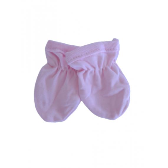 Βρεφικά βαμβακερά γαντάκια Ροζ